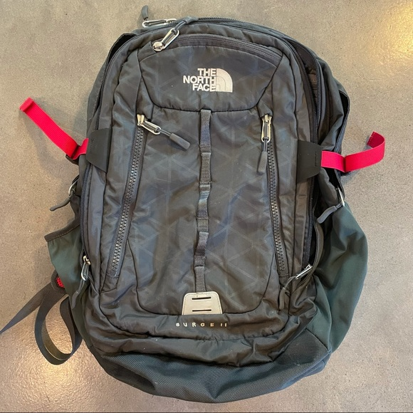 The Northface surge 2 black backpack laptop bag